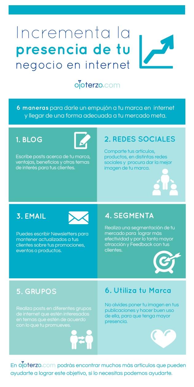 6 formas de incrementar la presencia de tu negocio en internet